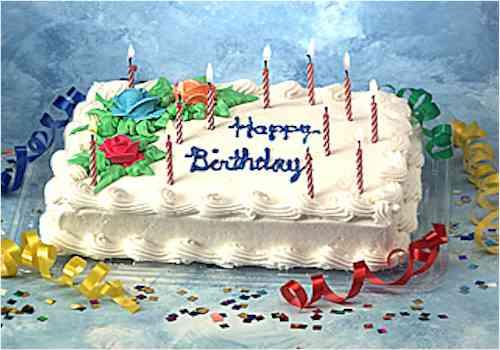 Rico pastel de cumpleaños