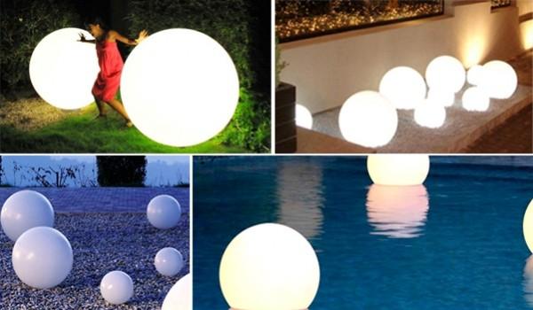 Luci a sfera da esterno sfera palla luminosa diametro cm per
