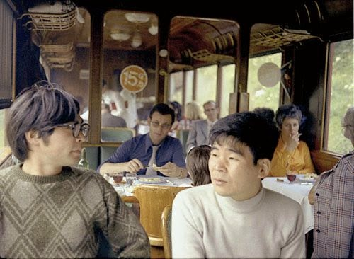 Miyazaki (left) and Takahata (right) Switzerland 1973. It is said that Takahata, 5 years senior, 'discovered' Miyazaki while they were both working at Toei. Miyazaki has always credited his colleague for mentoring him throughout his career.
