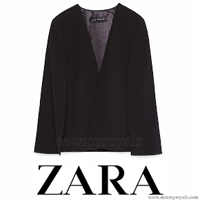 Queen Letizia style ZARA Cape Jacket and HUGO BOSS Taru Trousers