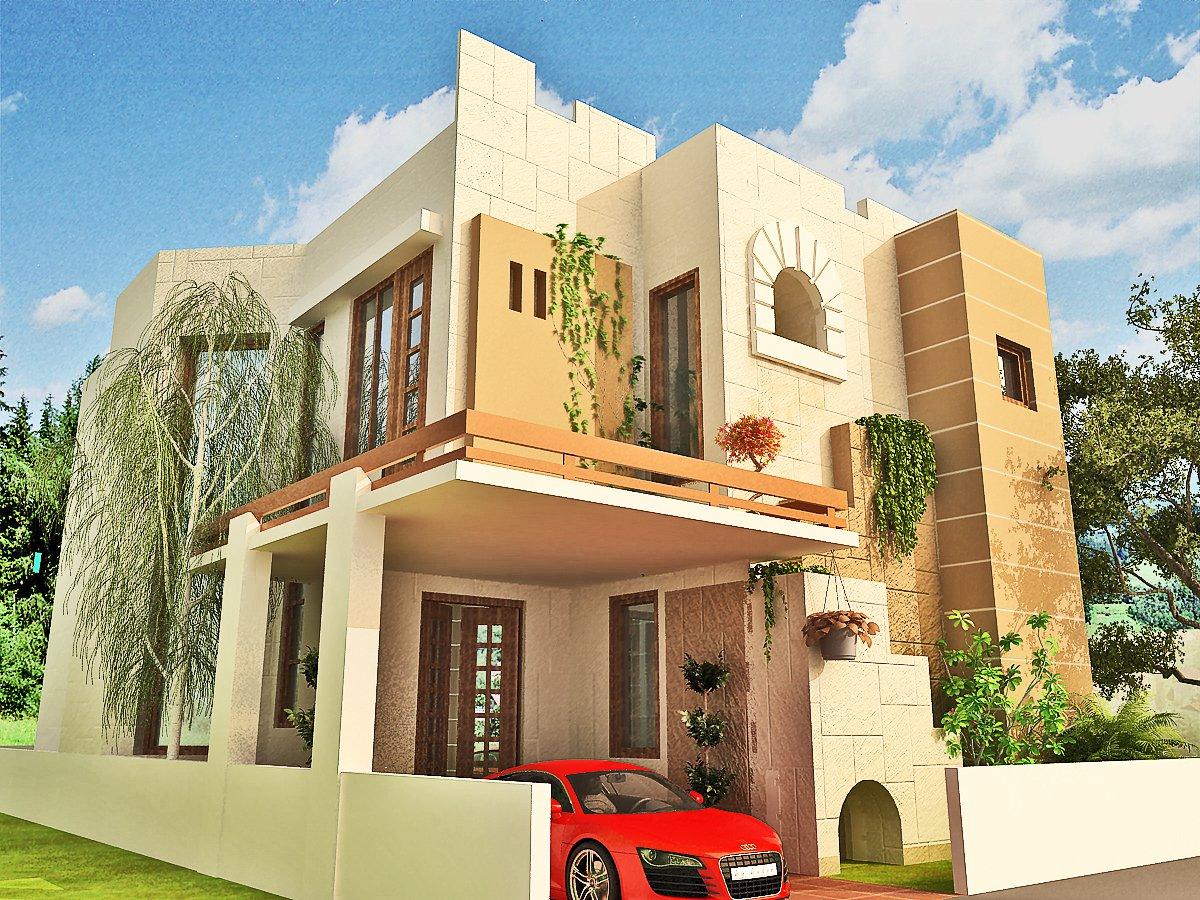 Home elevation designs 3d