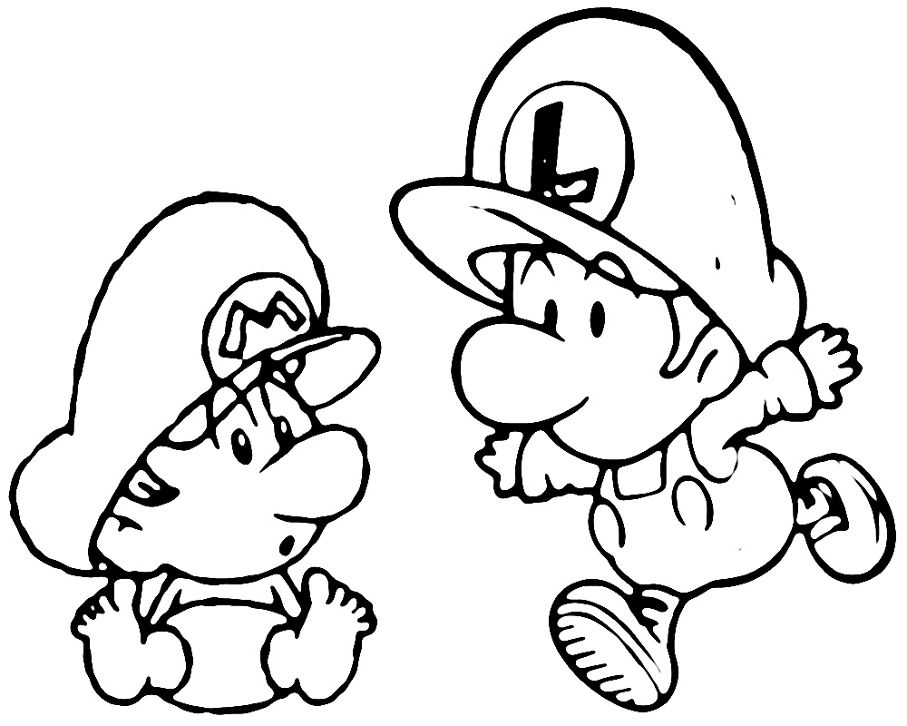 mario and luigi coloring pages - Mario Coloring Pages Cartoons ColoringPedia