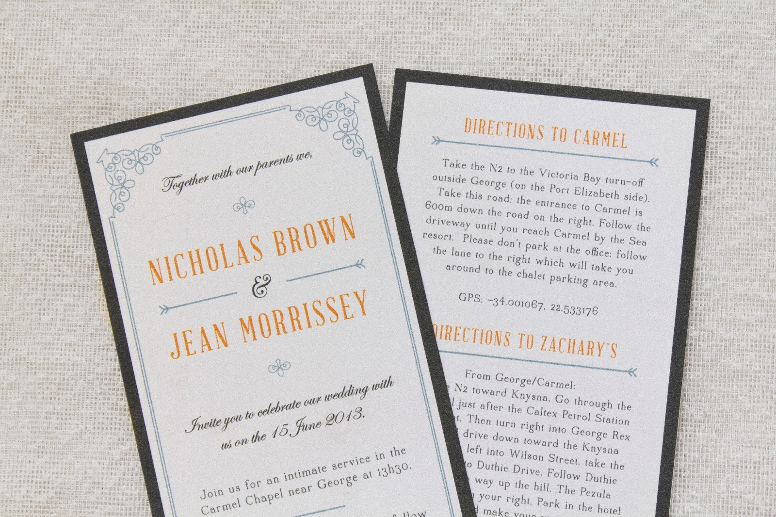 Bells and Whistles: Nic & Jean\'s Wedding Invites