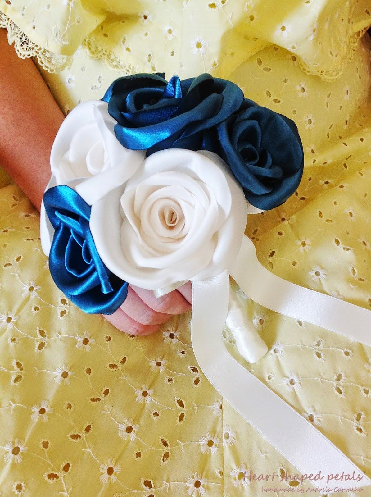 bouquet de rosas de cetim para noiva