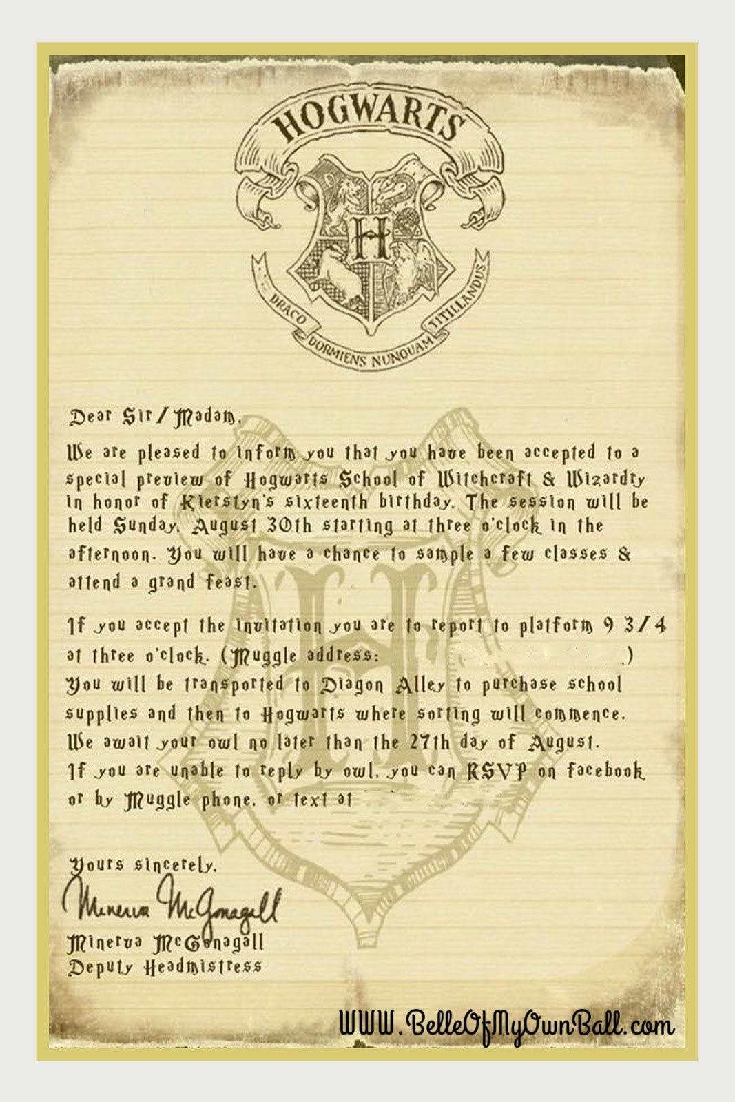 Belle Of My Own Ball: Gearing up for A Celebration of Harry Potter ...
