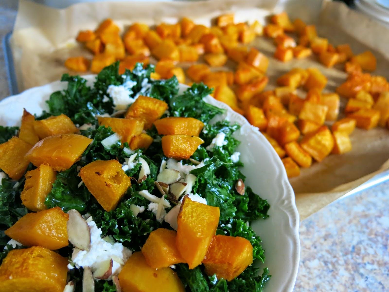 Andrea In Season: Lacinato Kale Salad with Roasted Squash