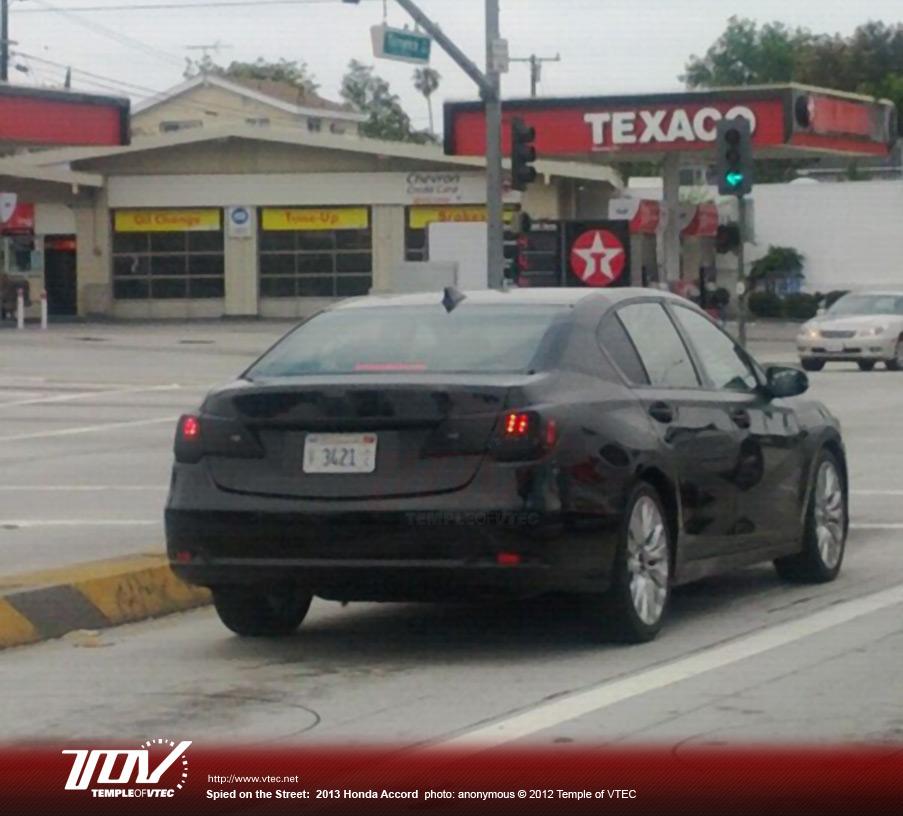 Honda Cars : TOV: Slightly Disguised 2013 Honda Accord, Or