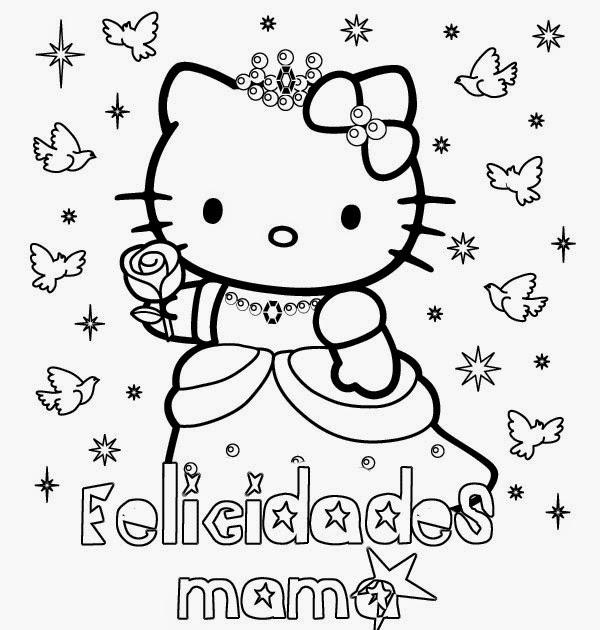 Dibujos para colorear en el día de la madre