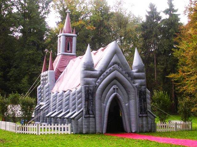 Inflatable Church, Surrey, England