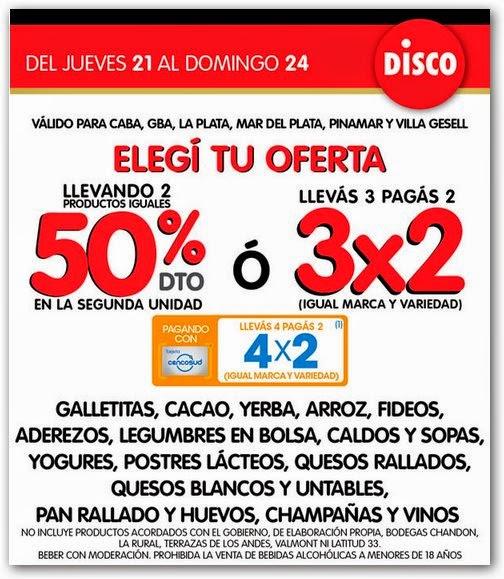 Ofertas y Promos en Argentina: Ofertas Disco fin de semana