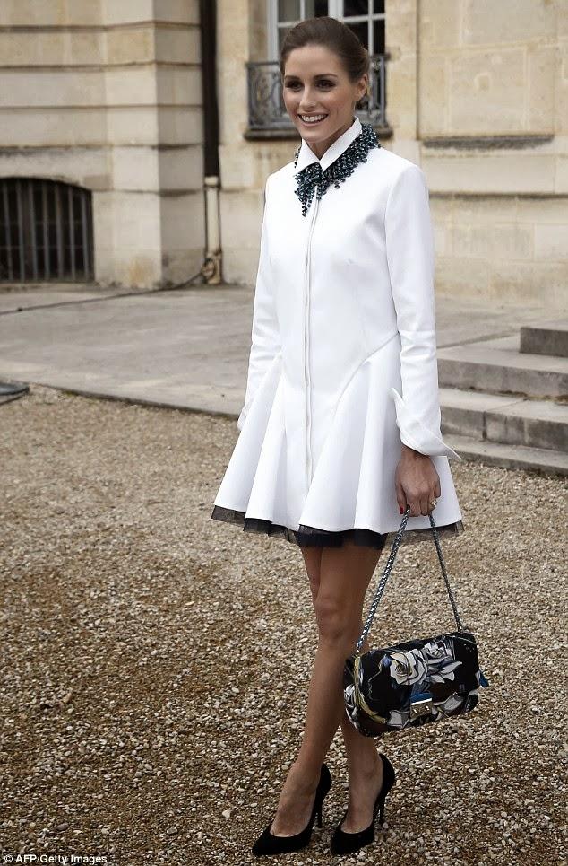 The Olivia Palermo Lookbook Paris Fashion Week 2014 Olivia Palermo At Dior