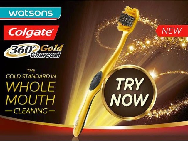 Colgate 360 charcoal gold