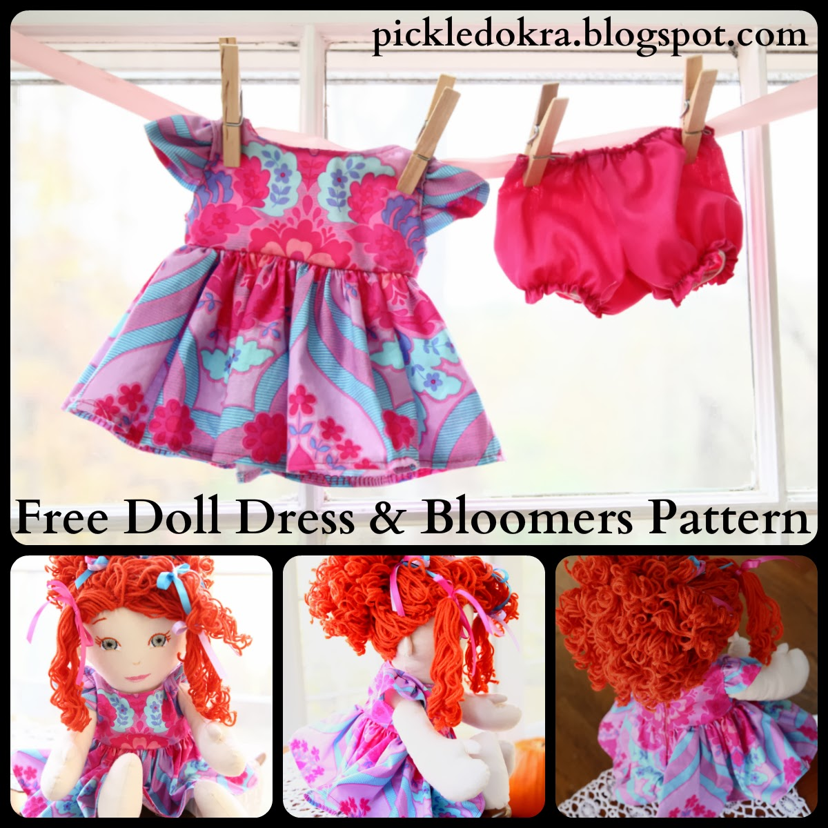Pickled Okra by Charlie: Blythe's Nancy Doll, Free Dress Pattern