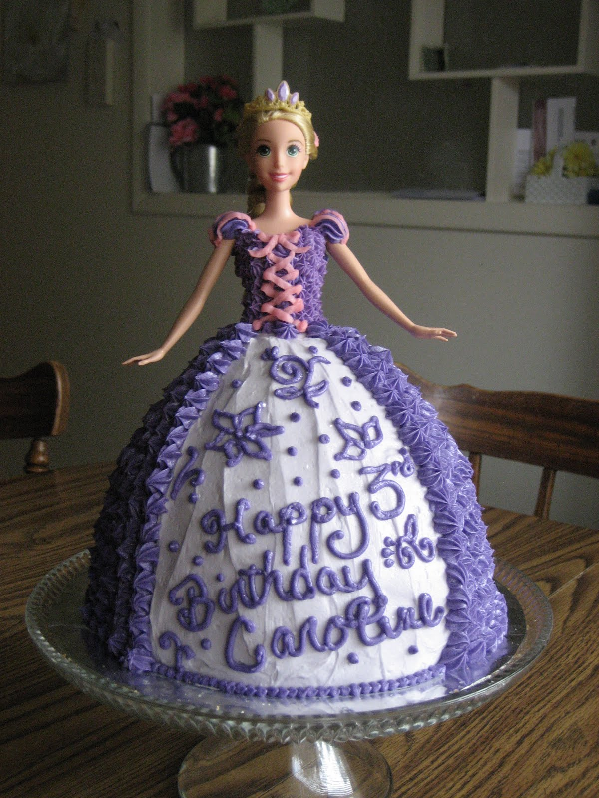 ... with tangled lately and wanted a rapunzel cake i got this idea from my