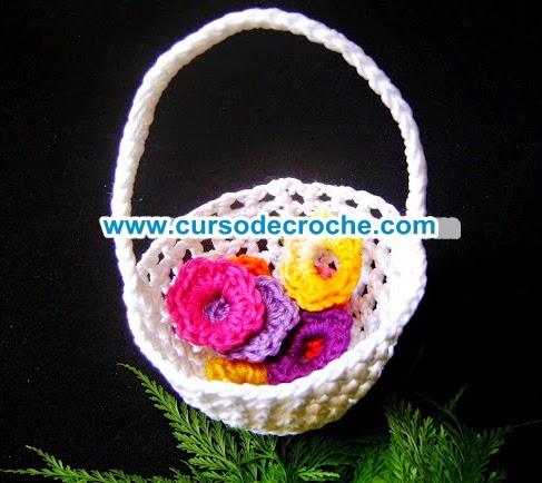 cestas em croche no blog croche com receita dvd video-aulas aprender croche loja