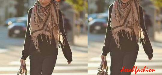 Tips Modis Memakai Jilbab Syal