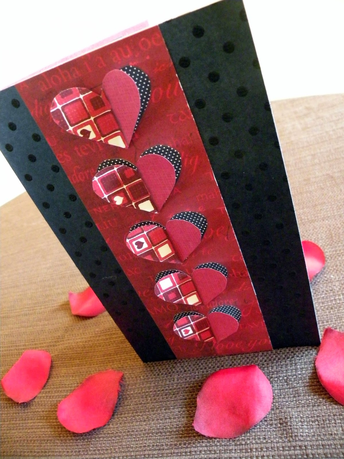 DIY handmade Valentine's Day or anniversary Card