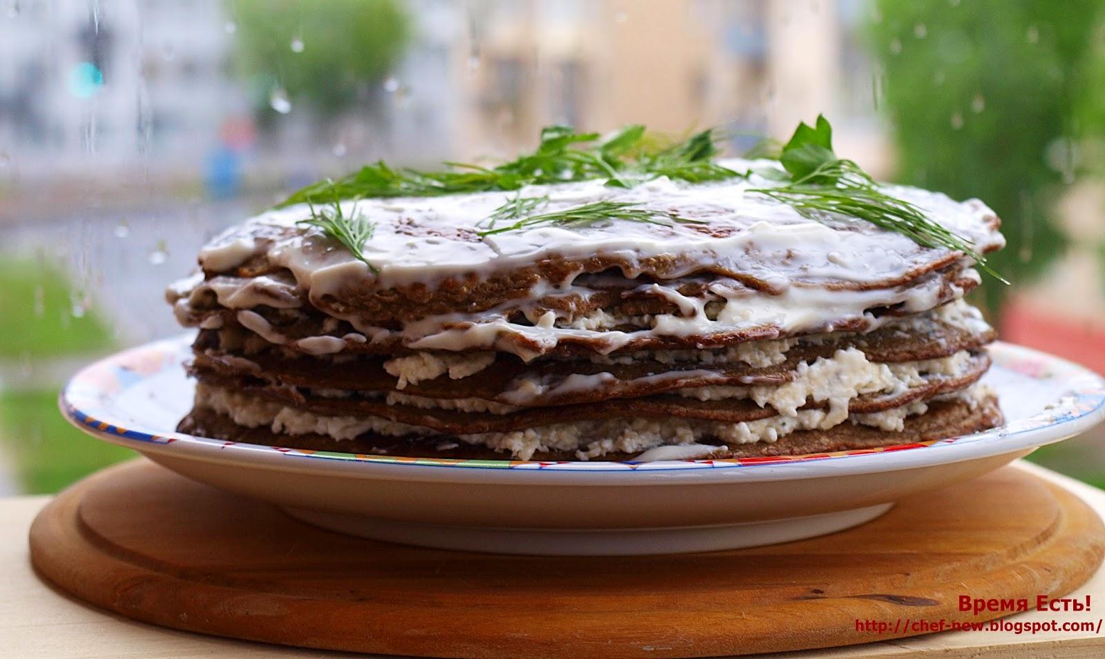 Печеночный торт из курицы рецепт с пошагово