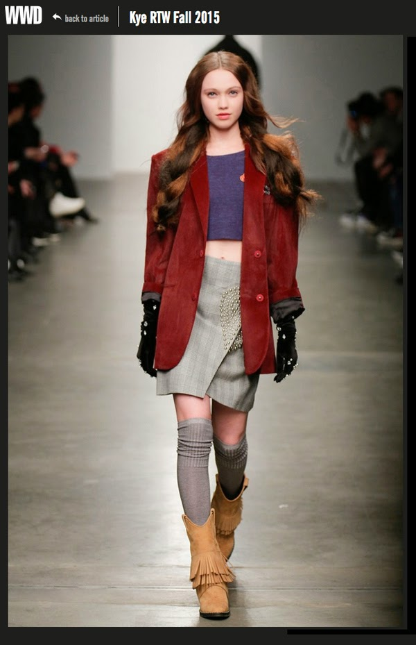 Haley Sutton - NYFW FW 2015 - Kye - Cast Images