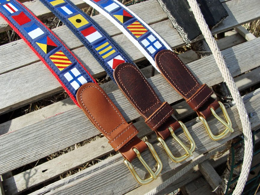 Nautical Belts for Men & Women  at Skipjack