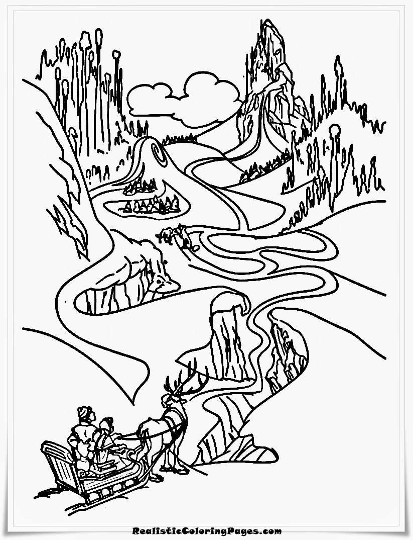 frozen landscape coloring pages to color