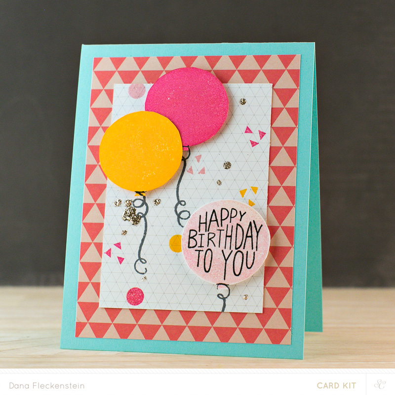 Birthday Balloon Card by @pixnglue #cardmaking