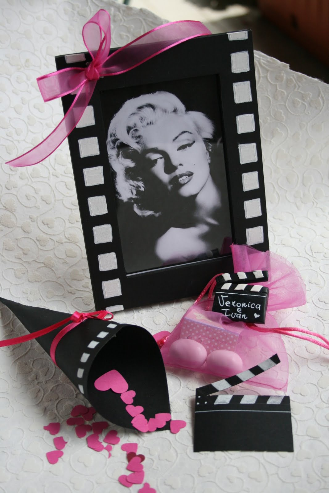 Matrimonio Tema Cinema : Pink frilly tema matrimonio cinema