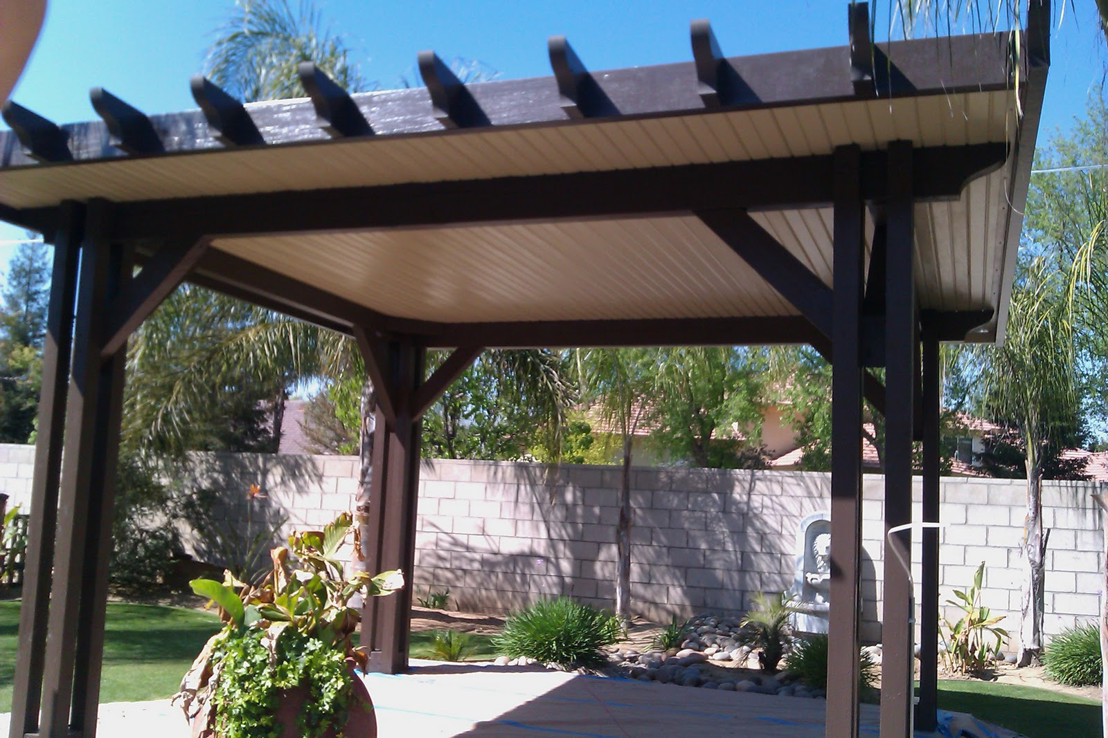 High Quality Stand Alone Garden Patio Cover In Ridgecrest, California
