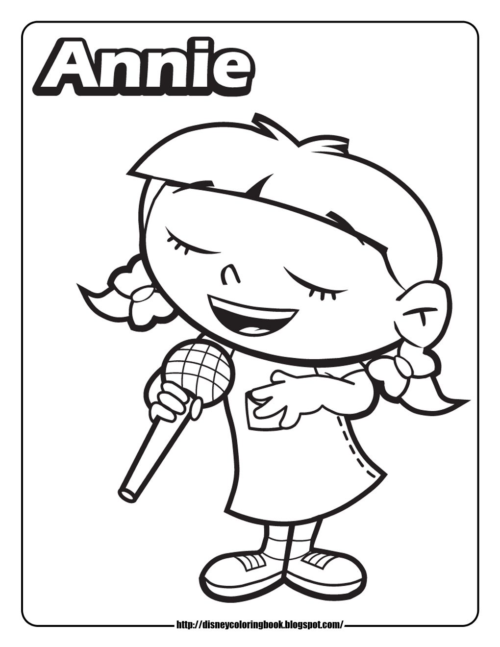 Little Einsteins Annie Coloring Pages Coloring Pages Annie