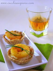 MINHA SUGESTÃO PARA VOCÊS: cestinha de maçã e brie