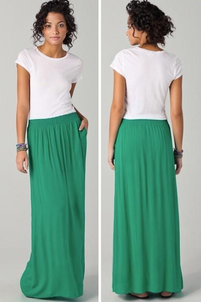 the maxi skirt summer fashion inspiration