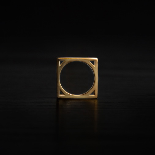 Bling Bling Square Wedding Rings