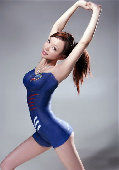World Cup Body Paint Girls