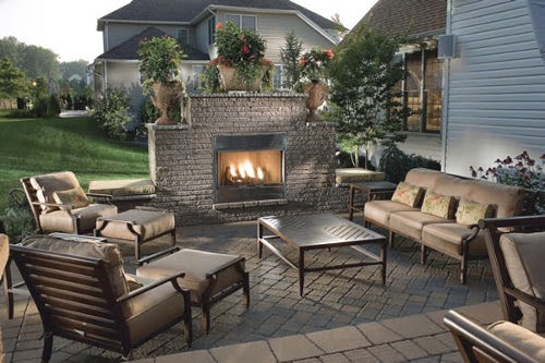 patio fireplace outdoors for patio designs and layout