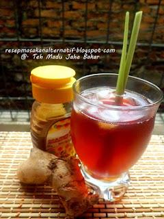 Resep Minuman Teh Madu Jahe Bakar