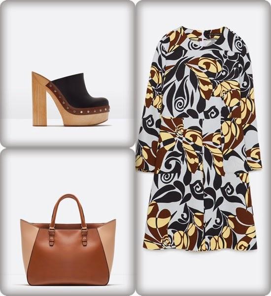 Conjunto Zara - Vestido floral e socas para fim-de-semana