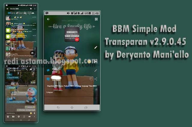 BBM Doraemon Simple Mod Transparan v2.9.0.45