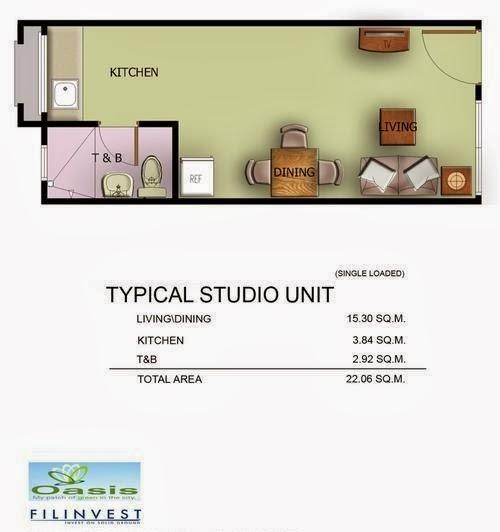 One Oasis Condominium, Ecoland, Davao City Studio