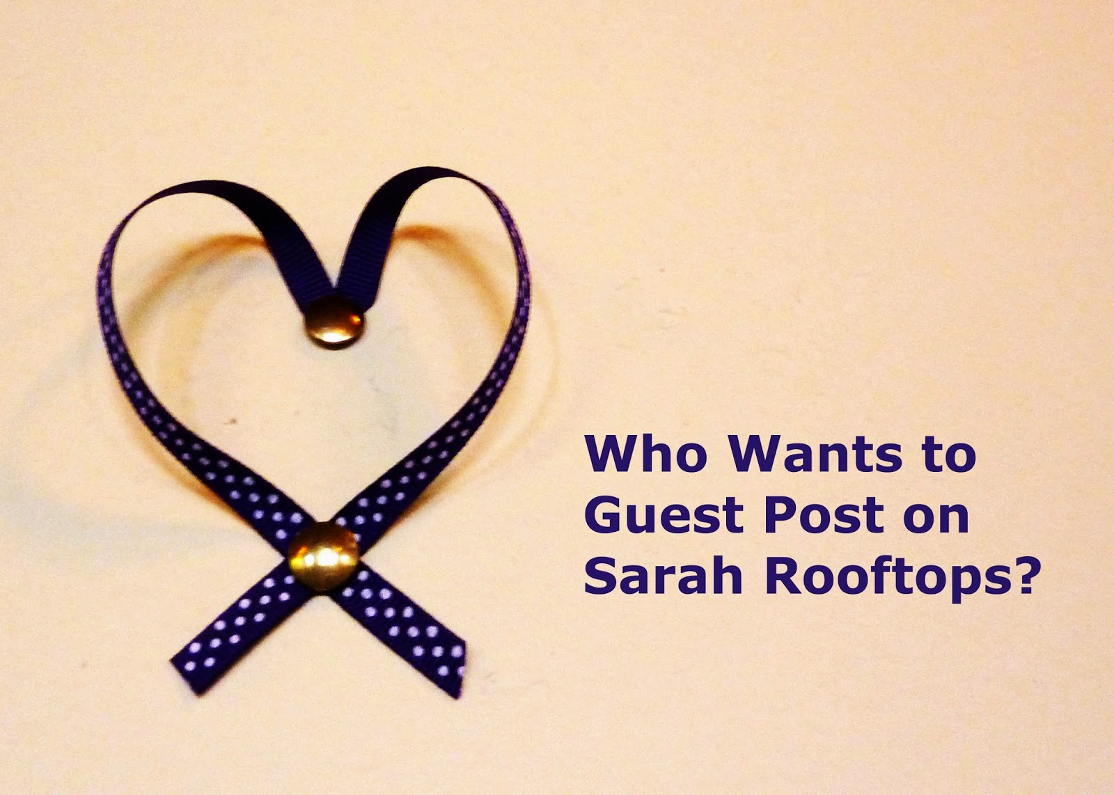 Who Wants to Guest Post on Sarah Rooftops?