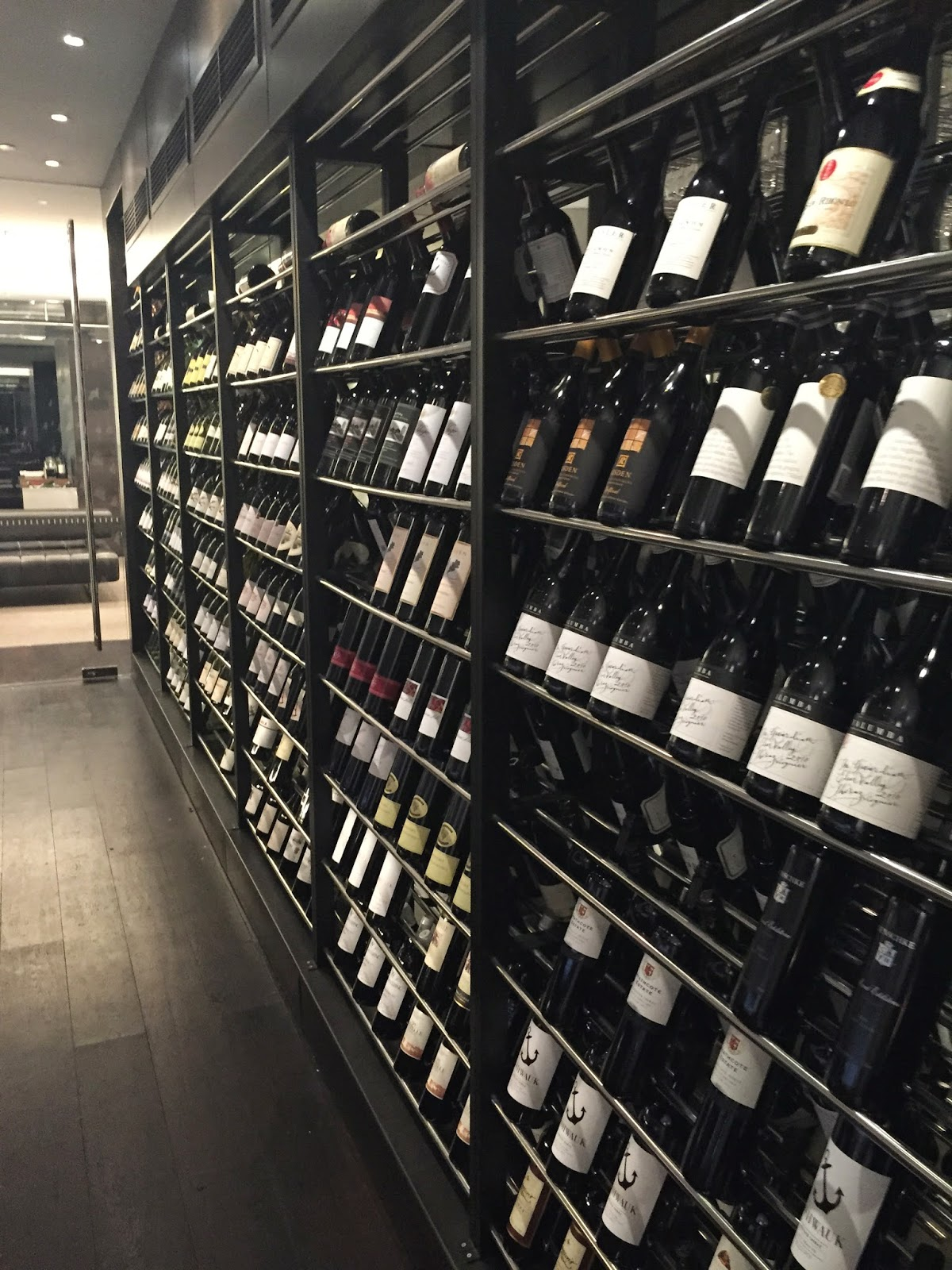Vintaged Bar & Grill Cassie Cakes Review Impressive Wine Room