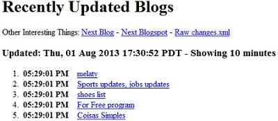 cara mengetahui update situs di sepuluh menit terakhir