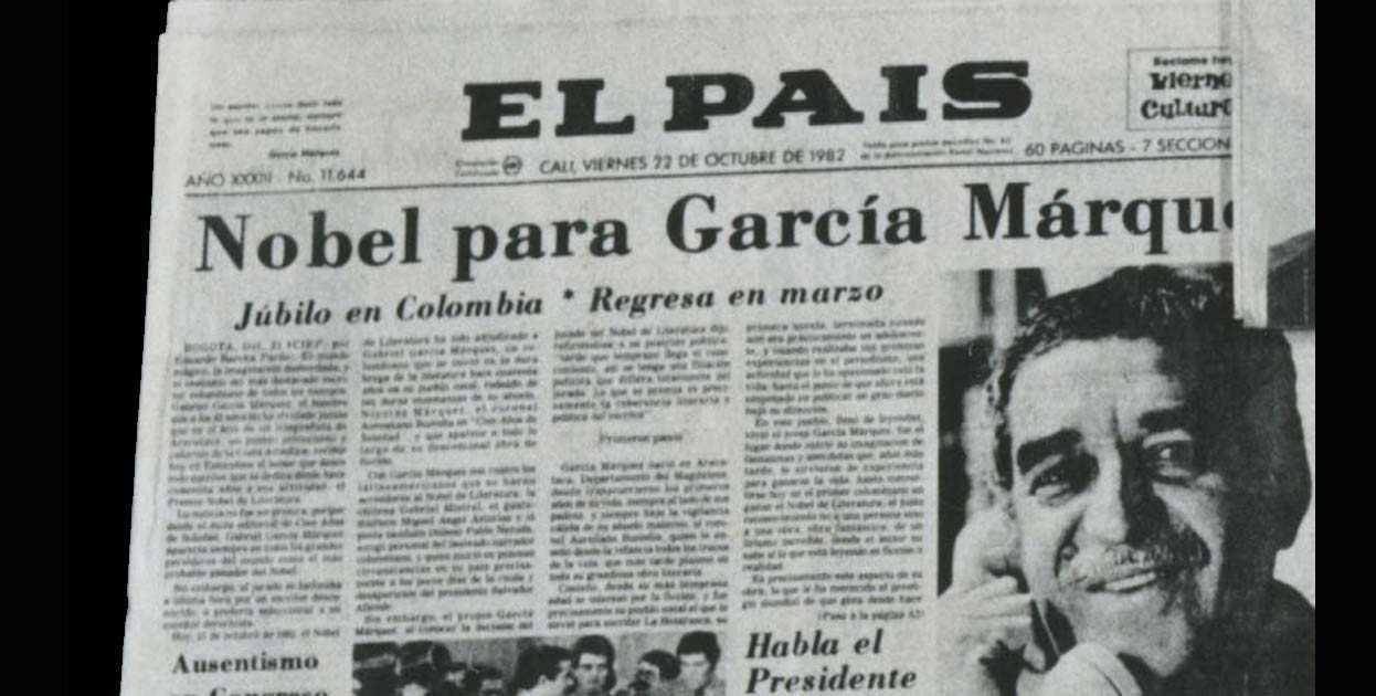 Garcia Marquez Joven García Márquez Recogió el