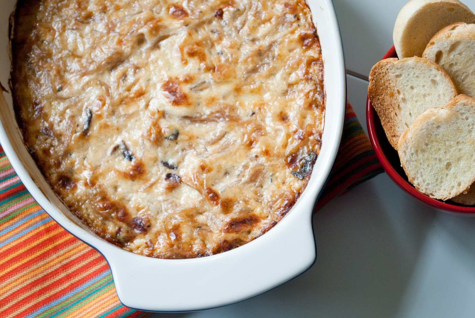 Ryan Bakes: Hot Caramelized Onion Dip with Bacon and Gruyere