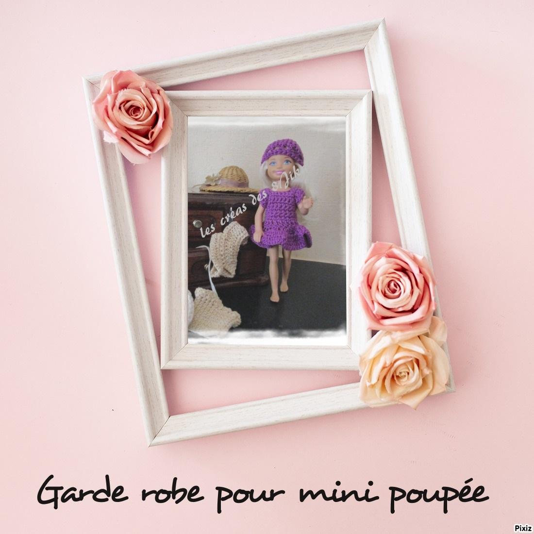 Ma garde robe pour mini poupées