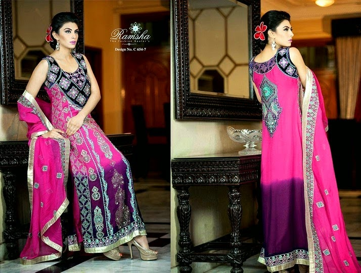 Indian Embroidered Dresses by Ramsha Zari