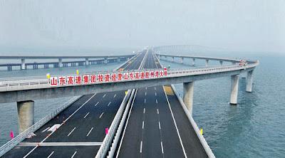 Shandong+Highway jambatan+terpanjang+dunia billyinfo1 Jambatan Terpanjang Di Dunia Kini Di China