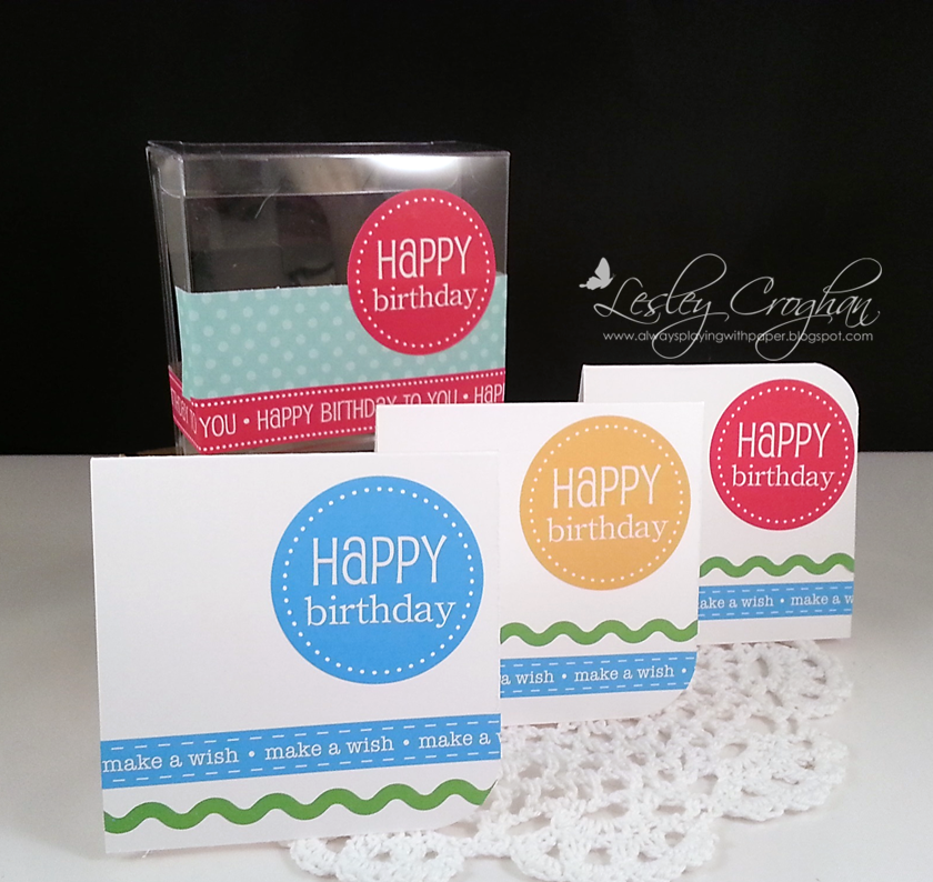SRM Stickers Blog - Happy Birthday Combo by Lesley - #birthday #stickers #borders #pencils #clear #box