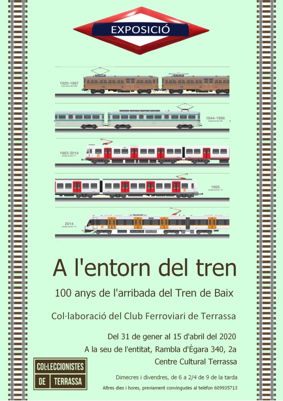 Exposició ferroviària - Cartell