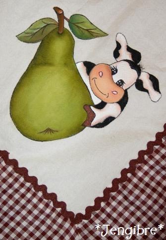Jengibre mantel con vaquitas pintadas en tela - Pintura en tela dibujos ...