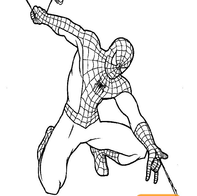 Gambar Mewarnai Spiderman Gambar Mewarnai Lucu